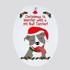 Christmas Is Merrier With A Pit Bull Terrier Ornam